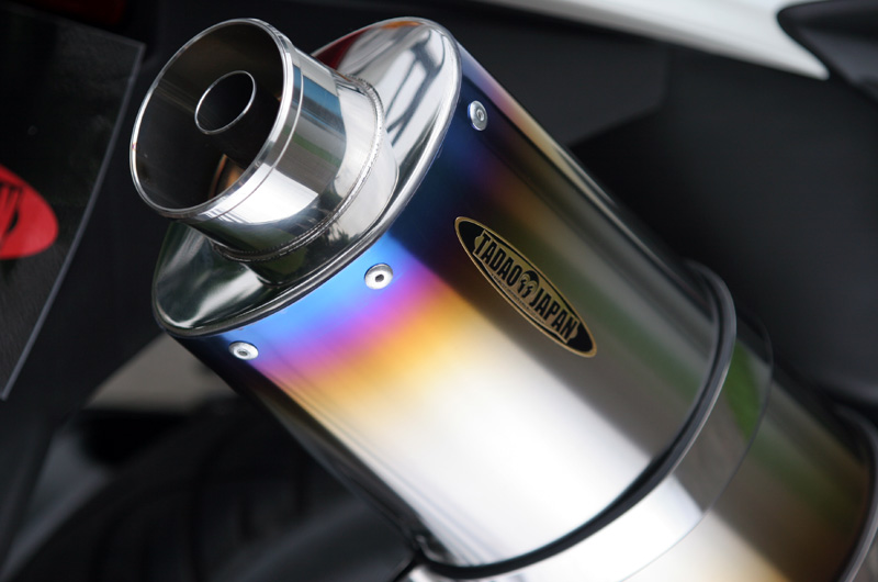 【SP忠男】Pure Sport  SV 金色飾徽鈦合金全段排氣管 (鈦藍) - 「Webike-摩托百貨」