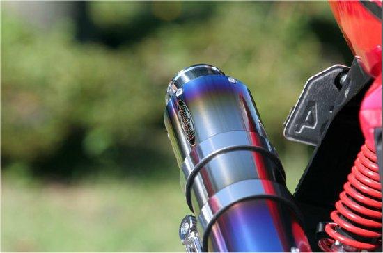 Pure Sport S 金色飾徽鈦合金全段排氣管 (鈦藍)