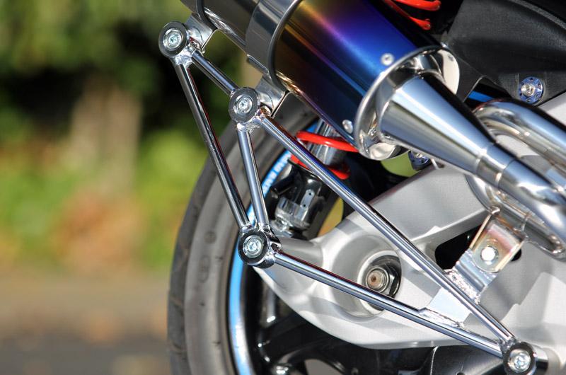 【SP忠男】Pure Sport  R 金色飾徽鈦合金全段排氣管 (鈦藍) - 「Webike-摩托百貨」
