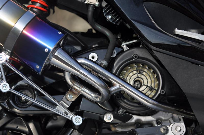 【SP忠男】Pure Sport 金色飾徽鈦合金全段排氣管 (Silent Version) (鈦藍) - 「Webike-摩托百貨」