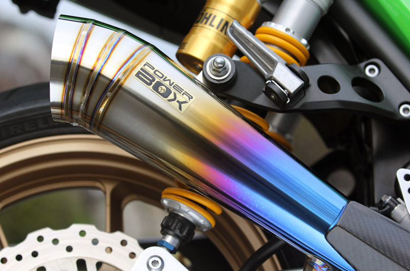 【SP忠男】PowerBox藍色鈦合金排氣管尾段 - 「Webike-摩托百貨」