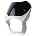 【MADMAX】180Φ 汎用頭燈整流罩・透明風鏡+8mm螺絲組套