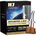 【SPHERE LIGHT】機車用球型燈泡 LED RIZING H7 5500K