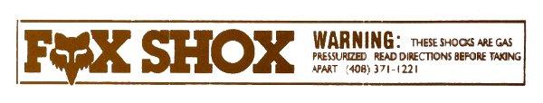 【HollyEquip】FOX GAS避震器貼紙 - 「Webike-摩托百貨」