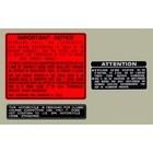 【HollyEquip】1987 HONDA CR250R Warning 貼紙(3張)