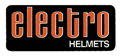 Electro Helmet Rectangle 貼紙
