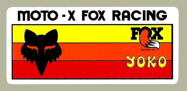 Moto-X FOX Racing YOKO Racing 貼紙