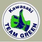 【HollyEquip】KAWASAKI Team Green Vintage Circle 貼紙