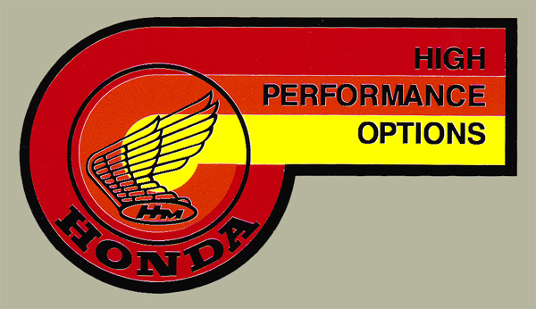 HONDA High Performance Option貼紙