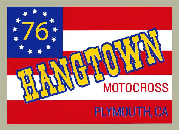 1976 HANG TOWN Flag 貼紙