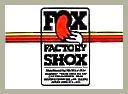 FOX Factory Shox 貼紙