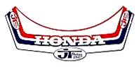 JT Racing HONDA 帽緣貼紙