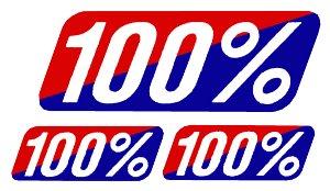 【HollyEquip】100% 貼紙組 - 「Webike-摩托百貨」