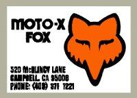 Moto-X FOX FOX/Thor 後搖臂貼紙