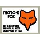 【HollyEquip】Moto-X FOX FOX/Thor 後搖臂貼紙
