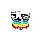 【HollyEquip】JT Racing Rainbow 貼紙(Drop Shadow)
