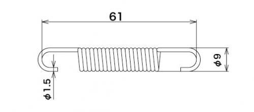 【SP武川】排氣管彈簧(L=60.5mm) - 「Webike-摩托百貨」