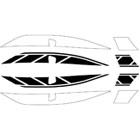 【World Walk】CYGNUS X SR(SEA5J)専用Electronic Flash 貼紙 單色/2色