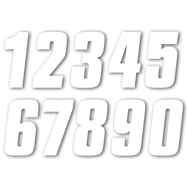 Factory Numbers「9」貼紙 4英吋