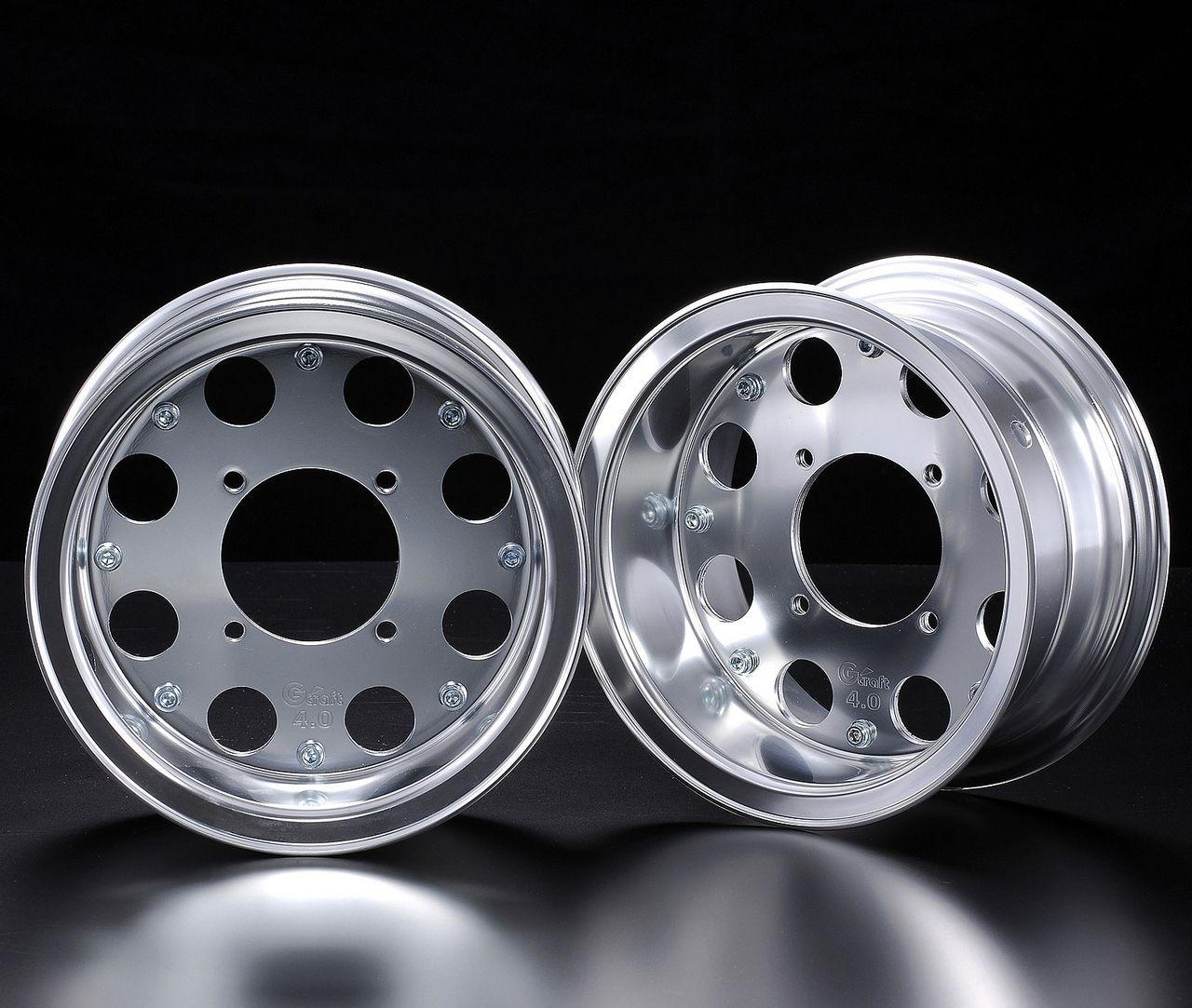 4.0J 8孔型式 銀色8英吋寬版輪框