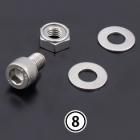 【PMC】【不銹鋼全段排氣管用(維修部件)】 消音器安裝螺絲組