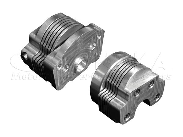 12V用 鋁合金鰭片式機油冷卻器與凸輪軸蓋5排 (左右55mm)
