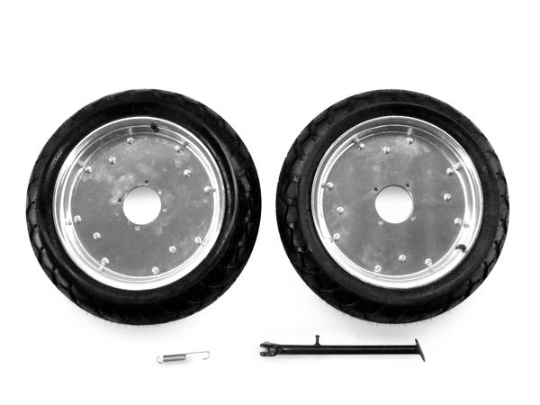 鋁合金輪框・輪胎組 組裝完成組12吋