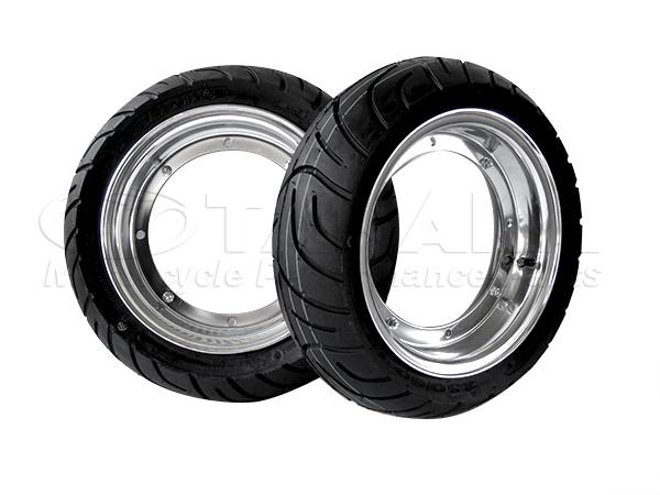 鋁合金輪框・輪胎4HUB組 組裝完成組10吋 3.5J