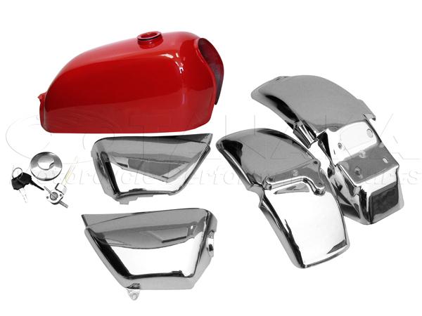 紅色油箱 外觀套件 5件式