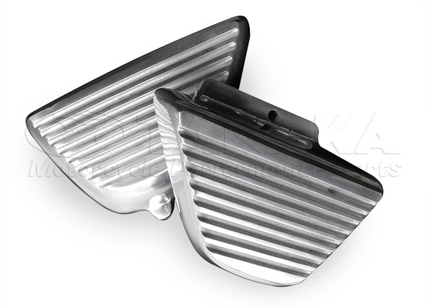 鋁合金製散熱片型側蓋 無孔型/拋光