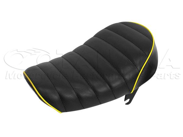 Tuck Roll 坐墊  黑色×黃色滾邊