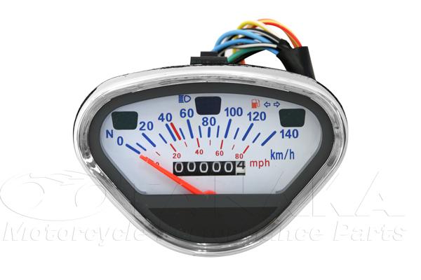 140km/h 儀錶 (白色面板)