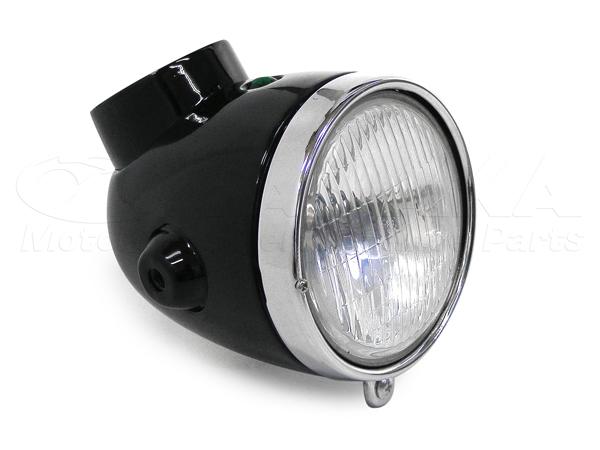 【田中商會】4L Type 頭燈整組/純黑色 - 「Webike-摩托百貨」