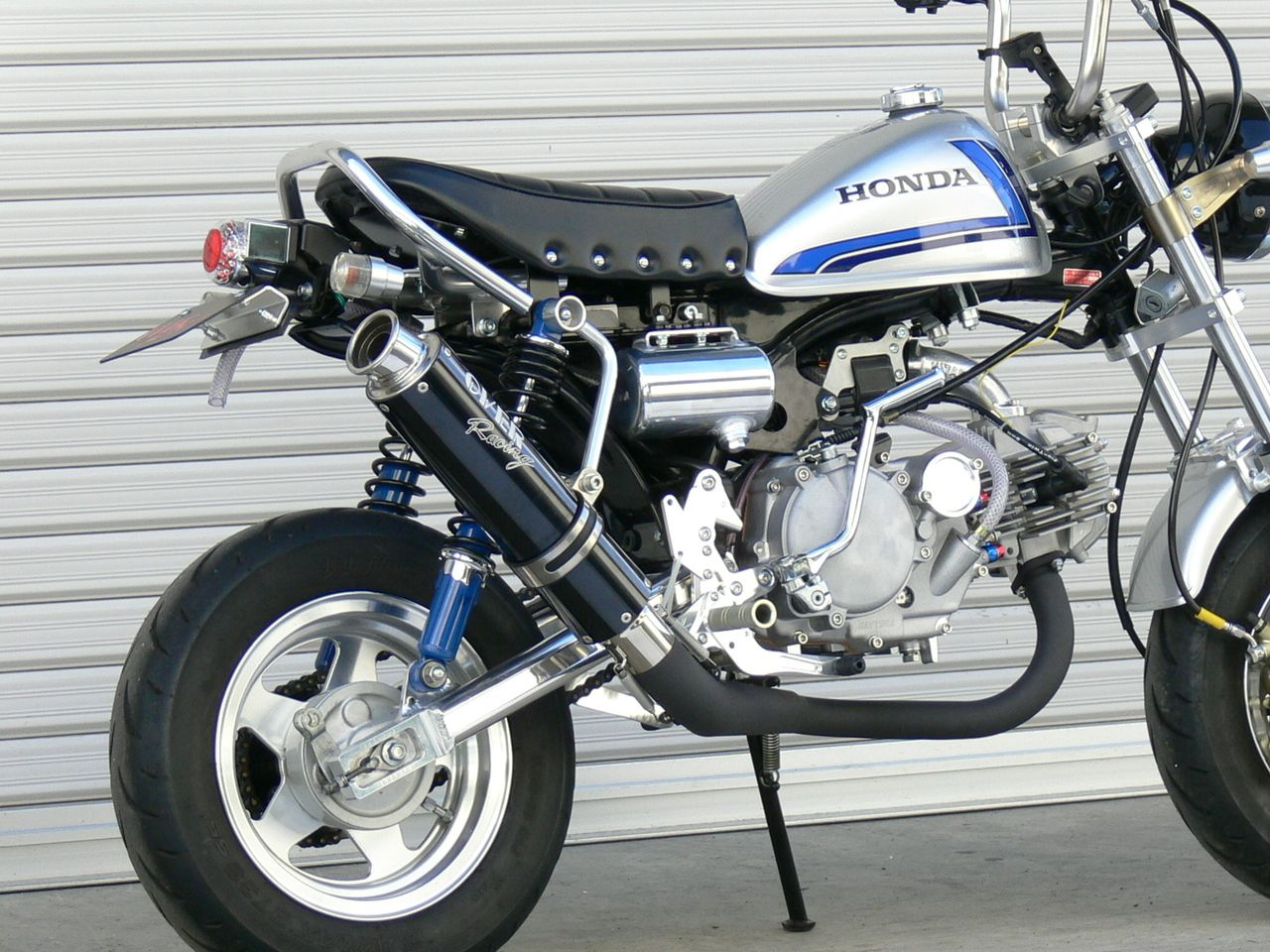 【OVER】RACING-DOWN 黑色 custom 排氣管 - 「Webike-摩托百貨」