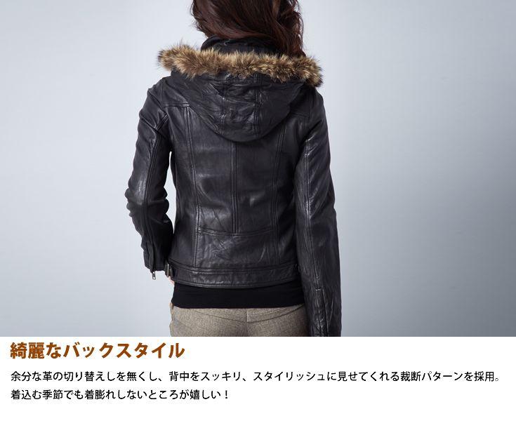 【Liugoo Leathers】可拆式立領真毛洗舊感女用皮革外套 - 「Webike-摩托百貨」