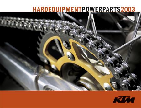【KTM POWER PARTS】PP Offroad/Street Folder 2003 DE/GB 型錄