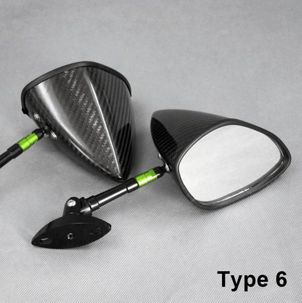 全方向可調式碳纖維後視鏡 整流罩用通用型Type6
