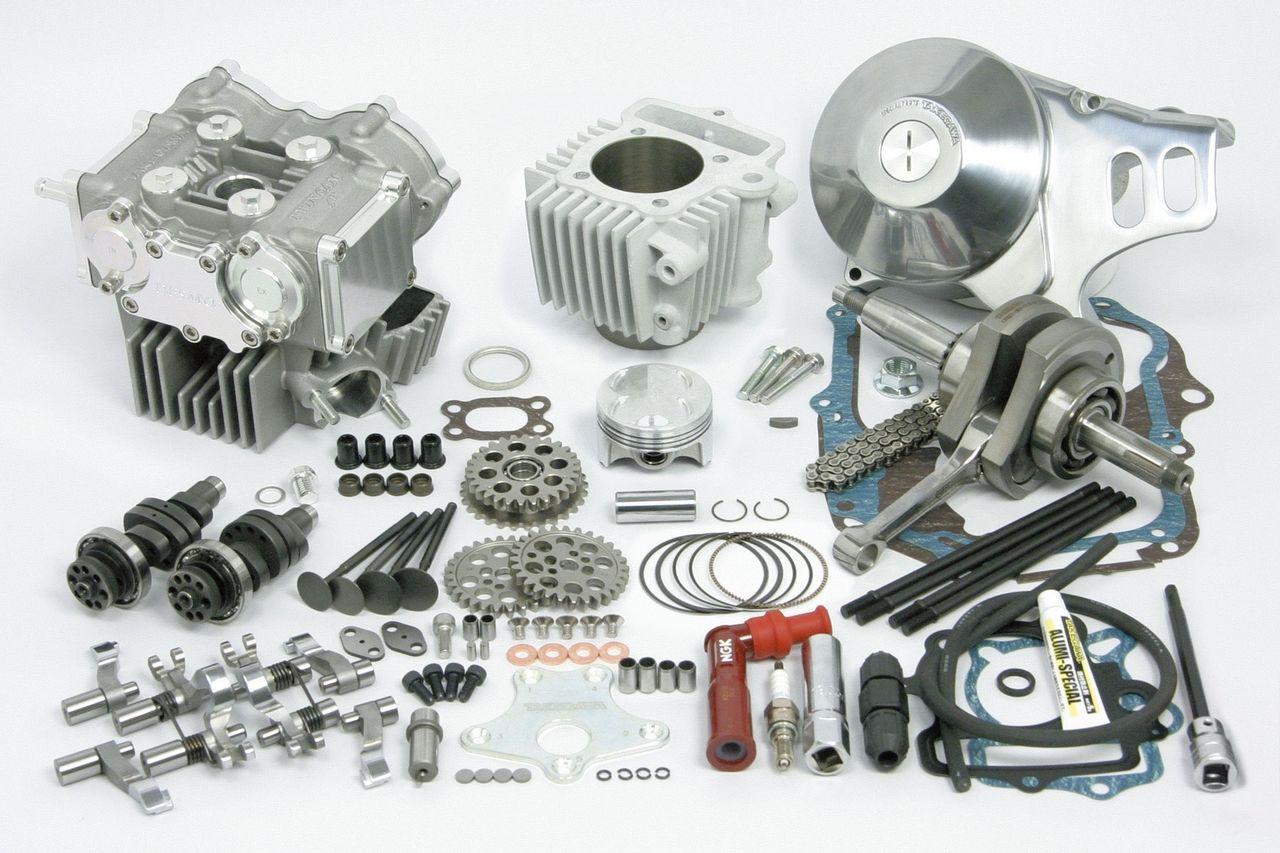 Desmodromic 4V 124cc雙凸輪軸缸徑,行程加大套件