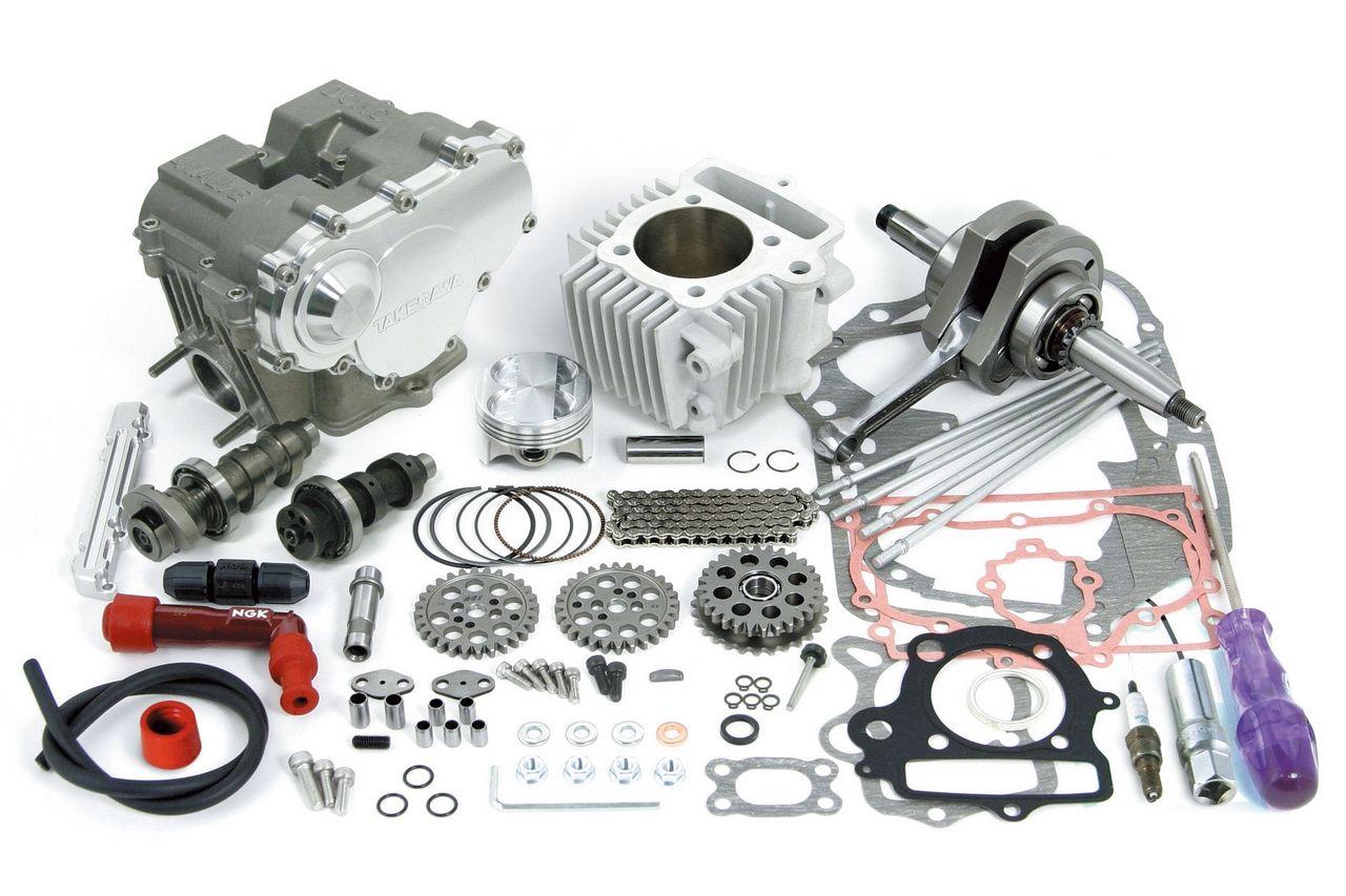 DOHC4V+D缸徑和行程加大套件124cc (2點固定式曲軸)