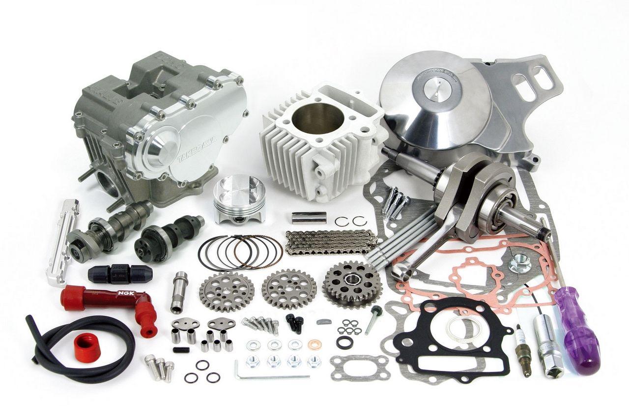 DOHC4V+D缸徑和行程加大套件124cc (3點固定式曲軸)