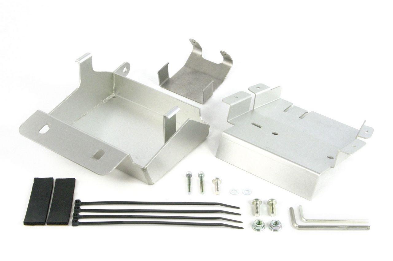 鋁合金製電池盒與電系底板組