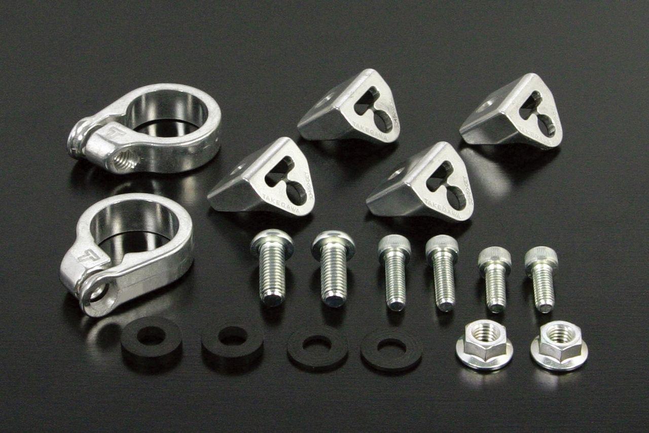 武川社製前叉用鑄造鋁合金製方向燈支架