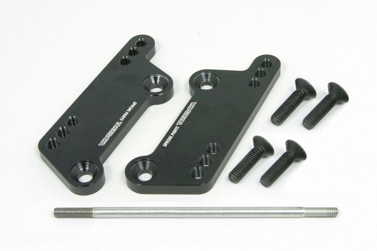 鋁合金切削加工3點位置腳踏固定板