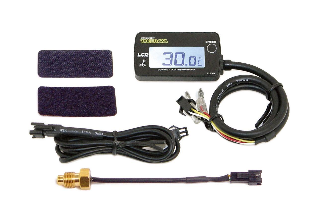 綜合LCD溫度錶(外部電源背光型式)PT1/8感知器附