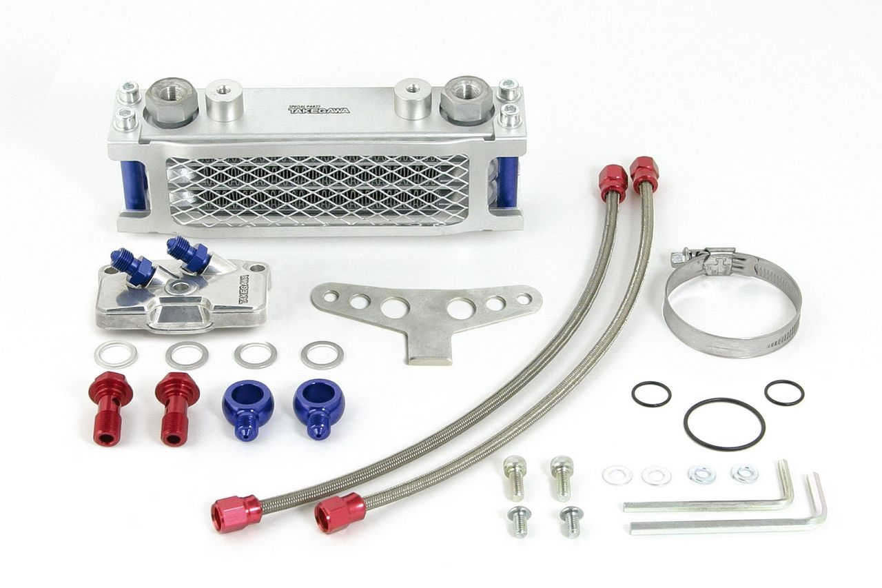 Compact 3排式機油冷卻器(細橡膠軟管/支架)