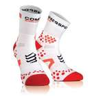 【COMPRESSPORT】Compressport Run V2.1 high 白色 / 紅色 襪子 T1 34-36