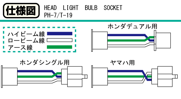 【KITACO】PH-7頭燈插座 (YAMAHA) - 「Webike-摩托百貨」