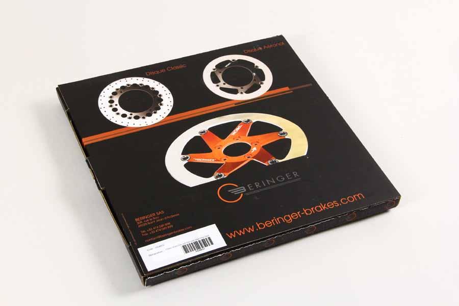 【BERINGER】AERONAL DISC 不銹鋼煞車碟盤 左用 (黑色) - 「Webike-摩托百貨」