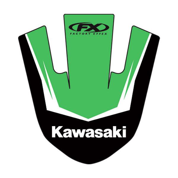 【FACTORY EFFEX】KAWASAKI 前擋泥板 貼紙