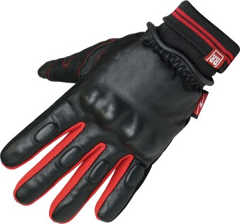 【ROUGH&ROAD】CK針織袖口冬季皮革手套
